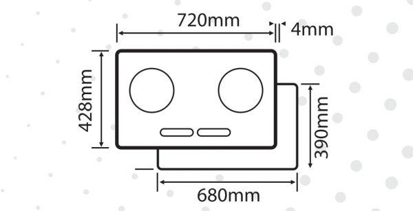 kích thước của bếp điện từ PH666